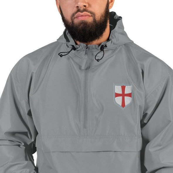 opszillastore,Knights Templar Shield Embroidered Champion Packable Jacket,