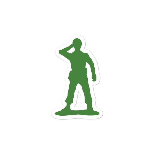 Little Green Army Men Saluting Bubble-free stickers - 3x3