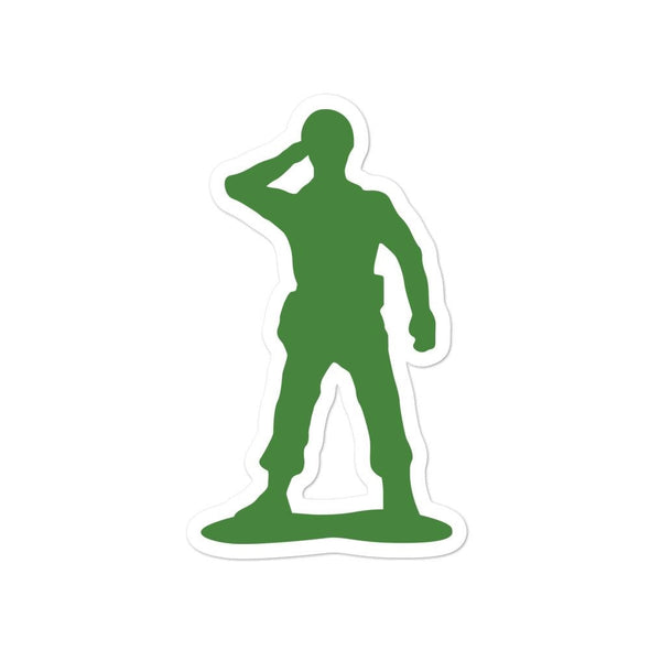 Little Green Army Men Saluting Bubble-free stickers - 4x4