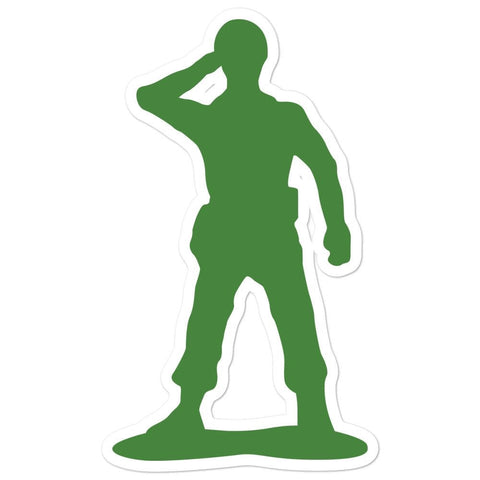 Little Green Army Men Saluting Bubble-free stickers - 5.5x5.5