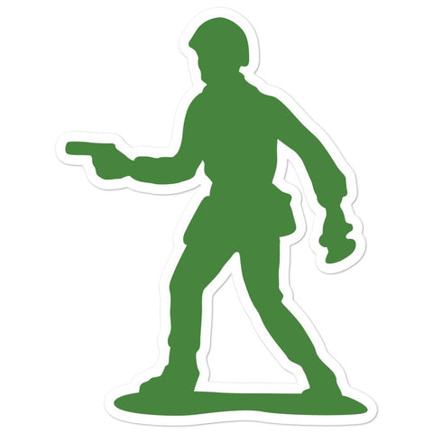 Little Green Army Men with Pistol Bubble-free stickers - 5.5x5.5