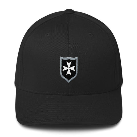 opszillastore,Medieval Shield Hospitaller Order Embroidered Structured Twill Cap,