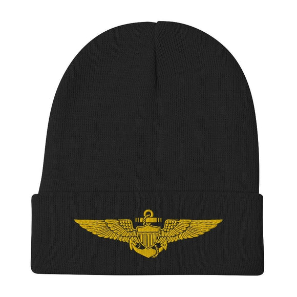 opszillastore,Naval Aviator Wings Embroidered Beanie,