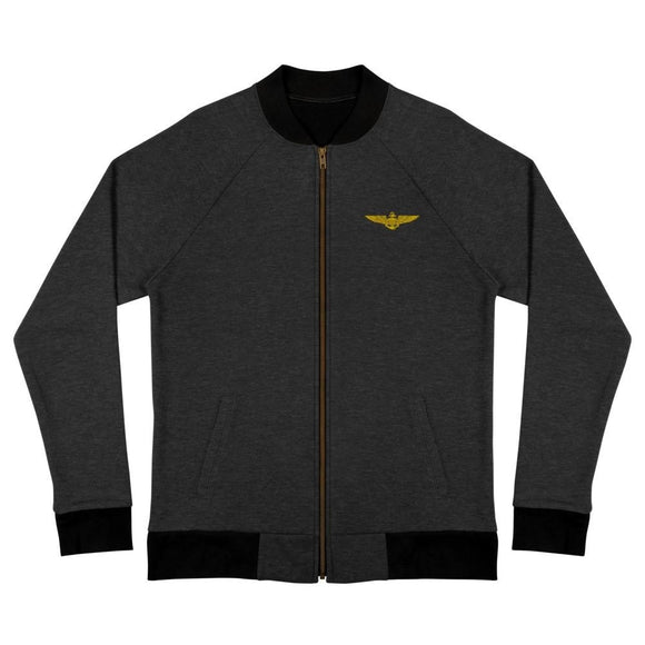 opszillastore,Naval Aviator Wings Embroidered Bomber Jacket,