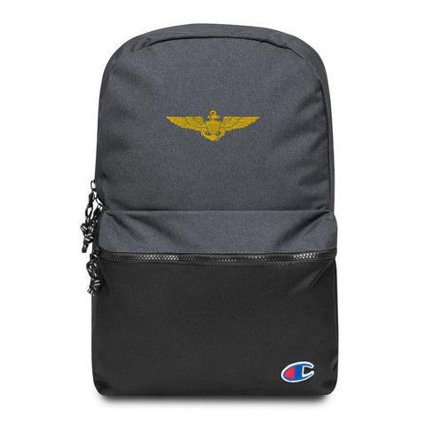 Naval Aviator Wings Embroidered Champion Backpack