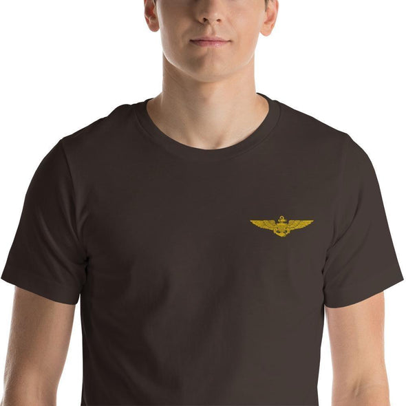 opszillastore,Naval Aviator Wings Embroidered Short-Sleeve Unisex T-Shirt,