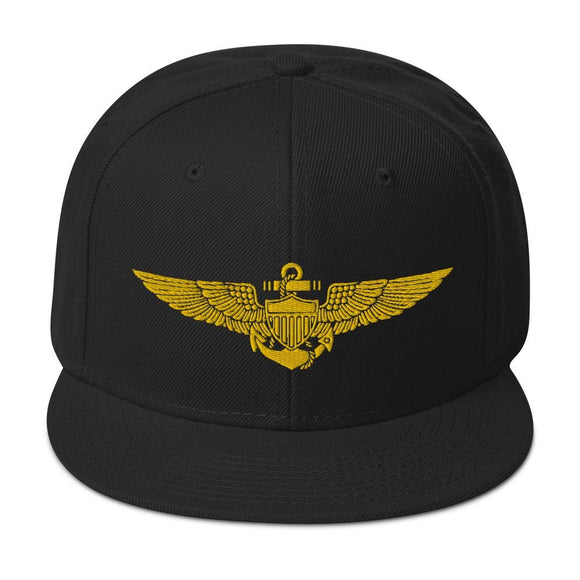opszillastore,Naval Aviator Wings Embroidered Snapback Hat,
