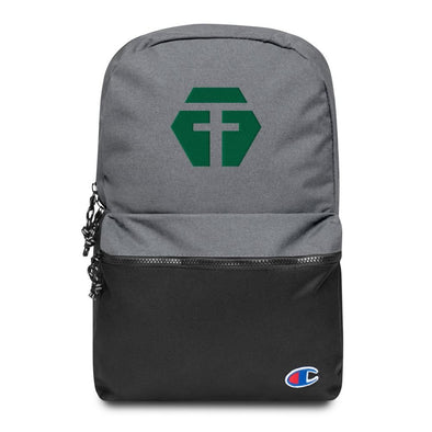 Opposing Force (OPFOR) Embroidered Champion Backpack - Heather Grey / Black