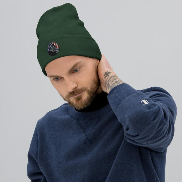OPSZILLA Logo Embroidered Beanie - Dark green
