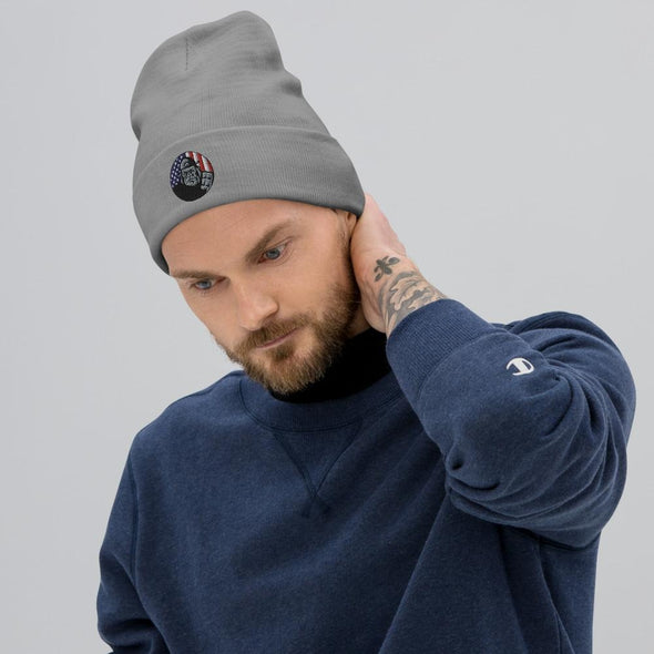 OPSZILLA Logo Embroidered Beanie - Gray