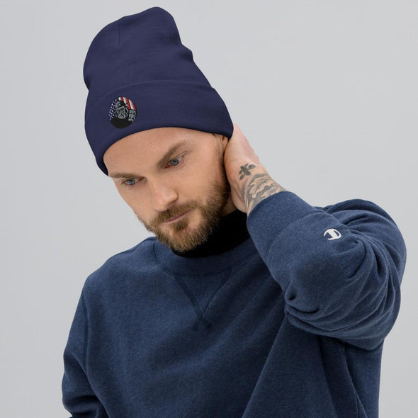 OPSZILLA Logo Embroidered Beanie - Navy