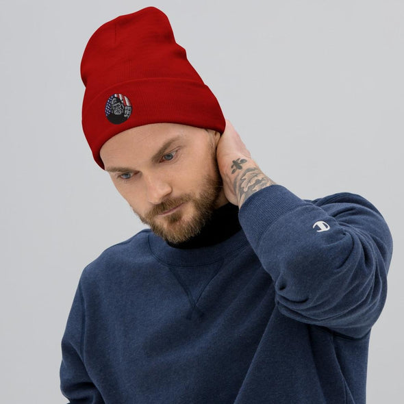 OPSZILLA Logo Embroidered Beanie - Red