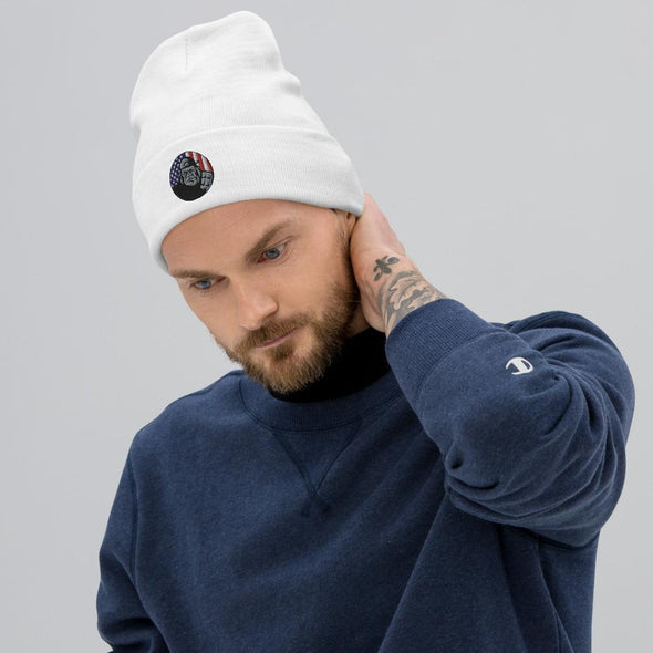OPSZILLA Logo Embroidered Beanie - White