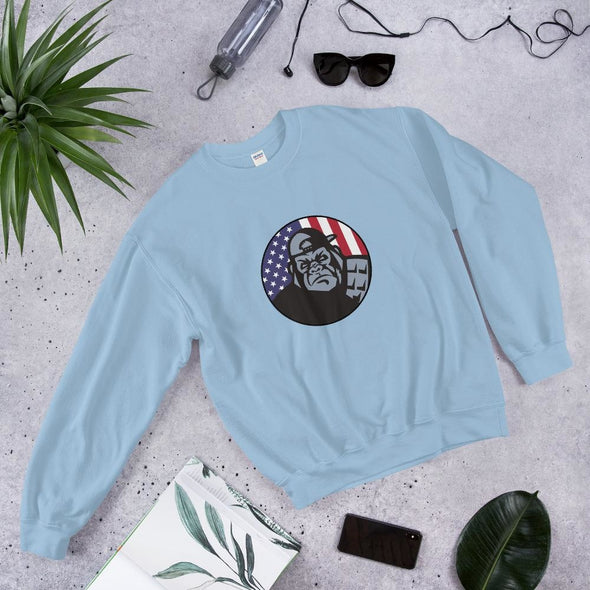 OPSZILLA Logo Unisex Sweatshirt - Light Blue / S