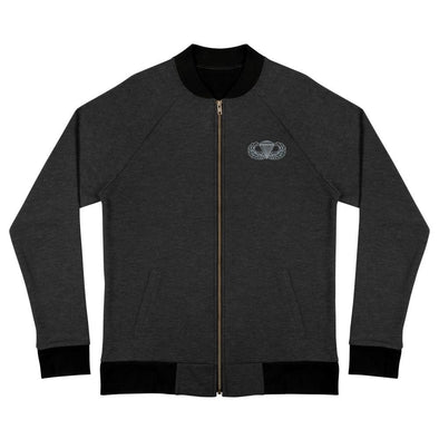 Parachutist Badge Bomber Jacket - Heather Black / S