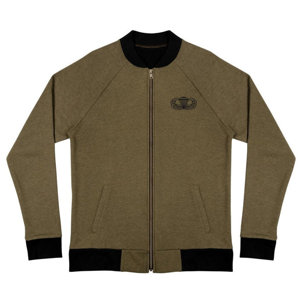 Parachutist Badge Bomber Jacket - Heather Military Green / S