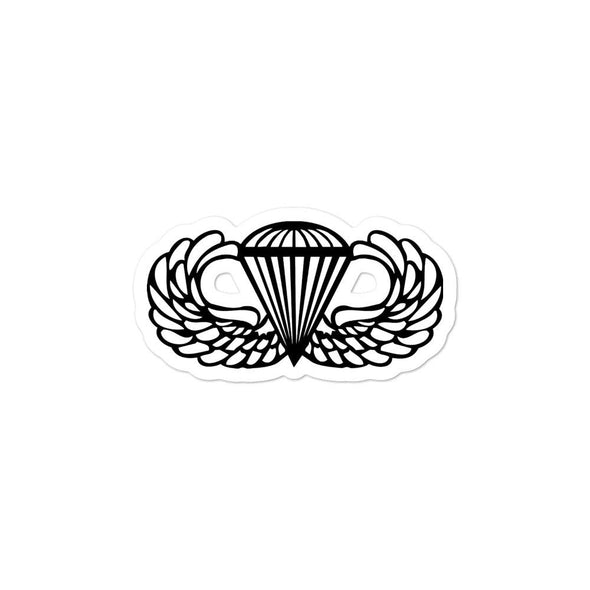 Parachutist Badge Bubble-free stickers - 3x3