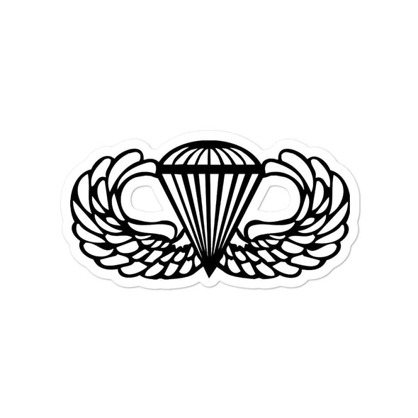 Parachutist Badge Bubble-free stickers - 4x4