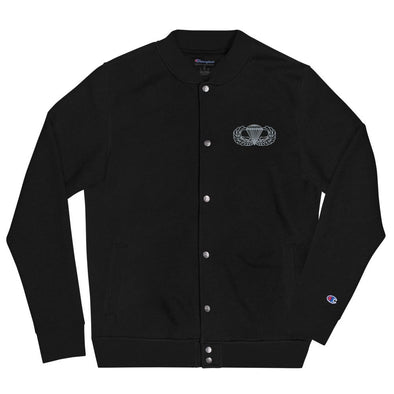 Parachutist Badge Embroidered Champion Bomber Jacket - Black / S