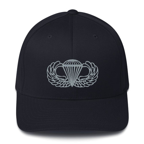 Parachutist Badge Embroidered Structured Twill Cap - Dark Navy / S/M