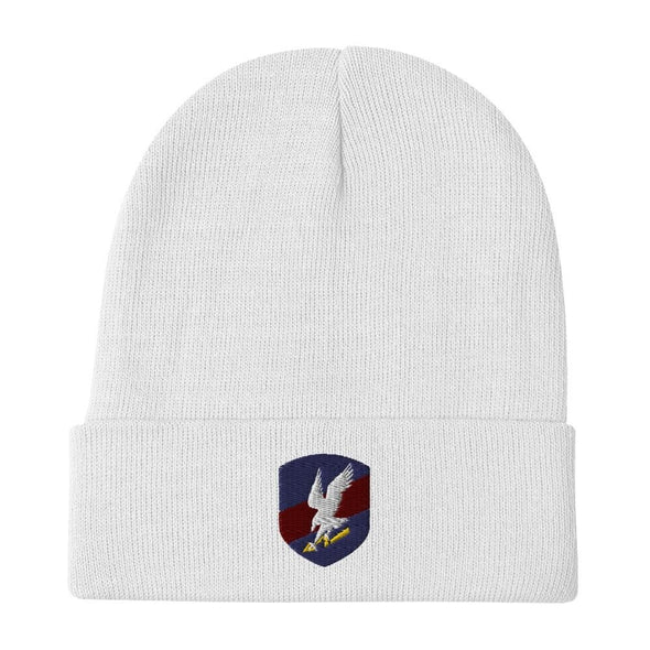 Polish JW GROM Embroidered Beanie - White