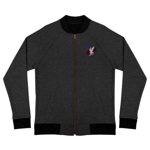 Polish JW GROM Embroidered Bomber Jacket - Heather black / S