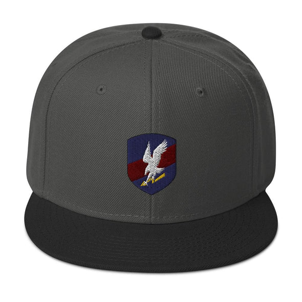 Polish JW GROM Embroidered Snapback Hat - Black / Charcoal gray / Charcoal gray