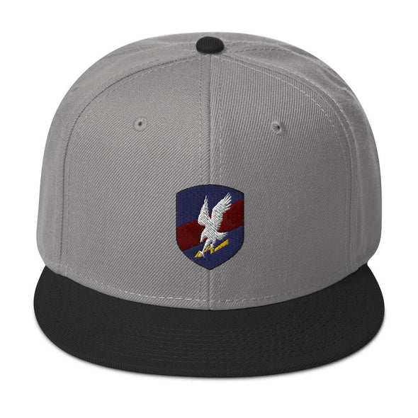 Polish JW GROM Embroidered Snapback Hat - Black / Gray / Gray