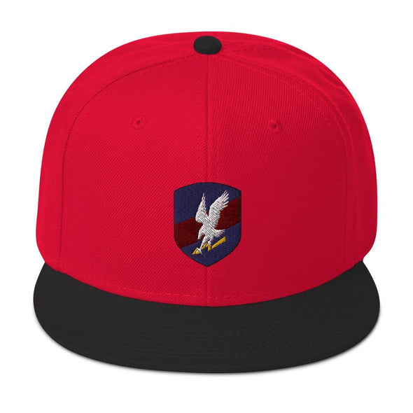 Polish JW GROM Embroidered Snapback Hat - Black / Red / Red