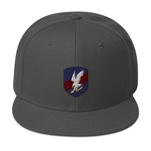 Polish JW GROM Embroidered Snapback Hat - Charcoal gray