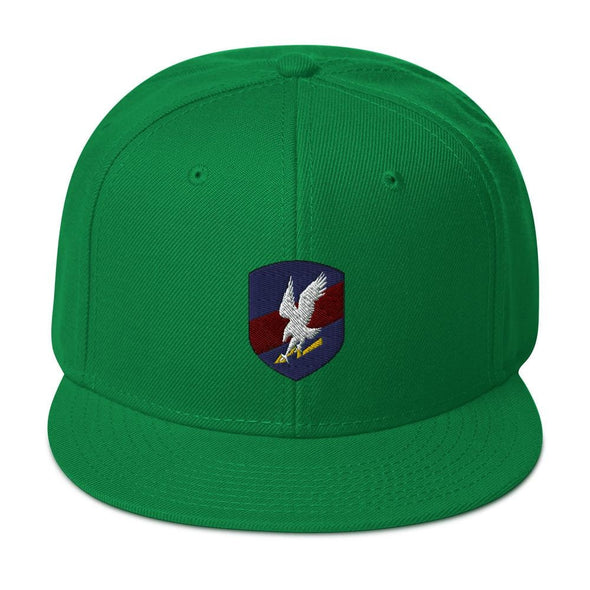 Polish JW GROM Embroidered Snapback Hat - Kelly Green