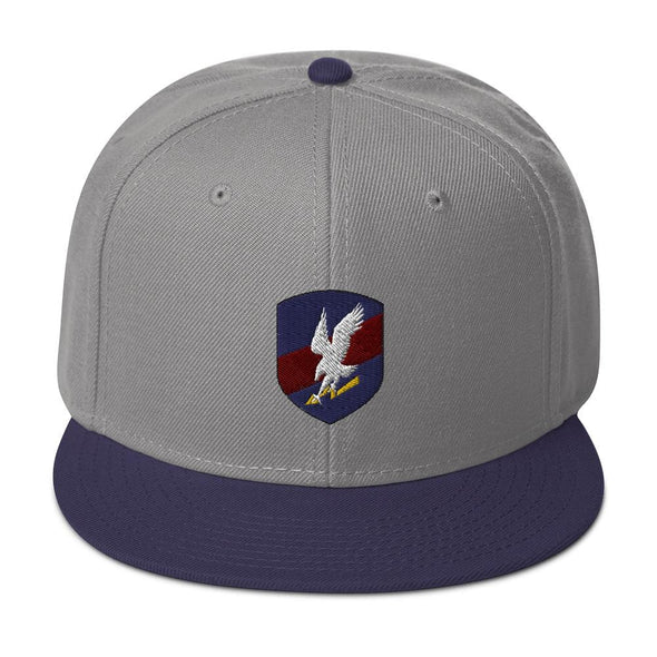 Polish JW GROM Embroidered Snapback Hat - Navy blue / Gray / Gray