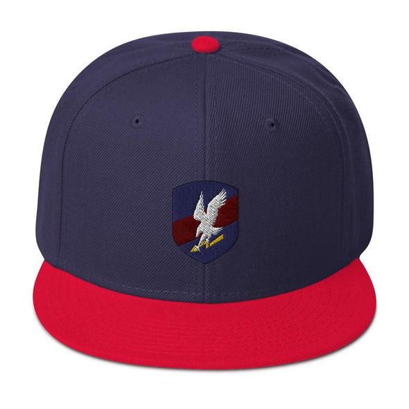 Polish JW GROM Embroidered Snapback Hat - Red / Navy blue / Navy blue