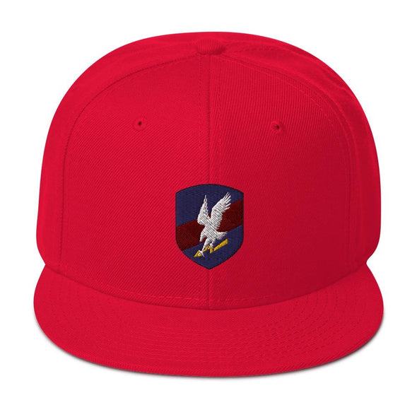 Polish JW GROM Embroidered Snapback Hat - Red
