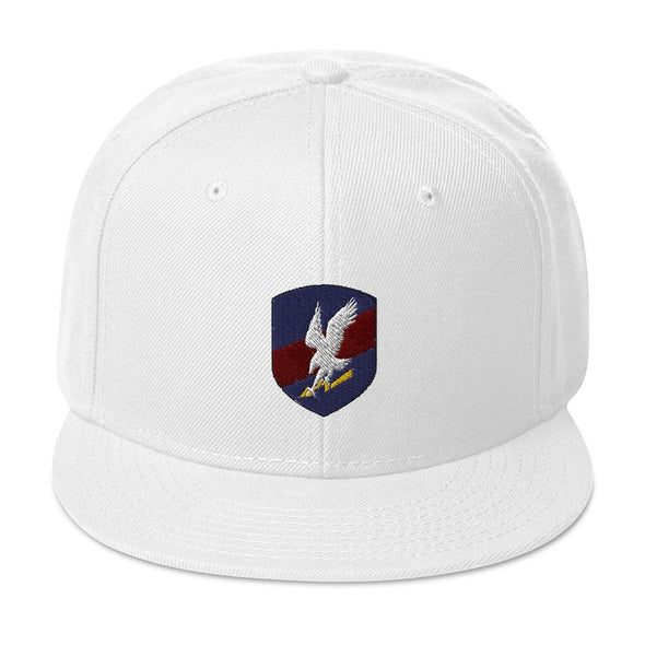 Polish JW GROM Embroidered Snapback Hat - White