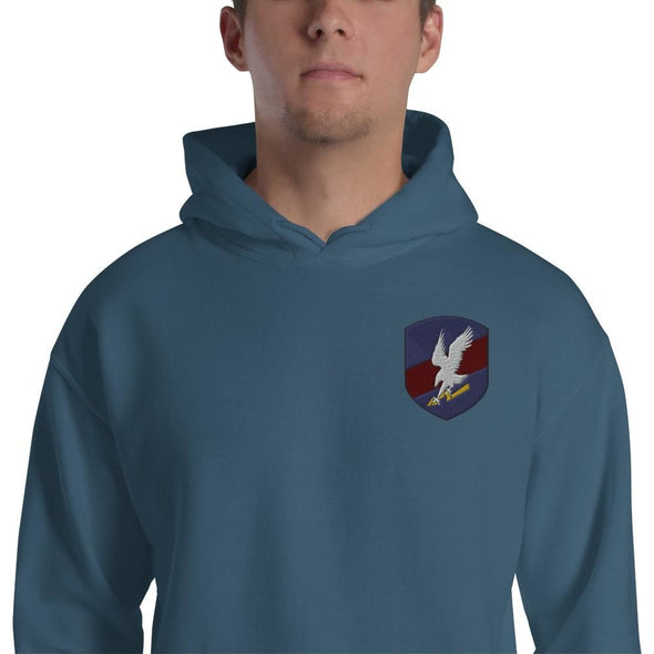 Polish JW GROM Embroidered Unisex Hoodie - Indigo Blue / S