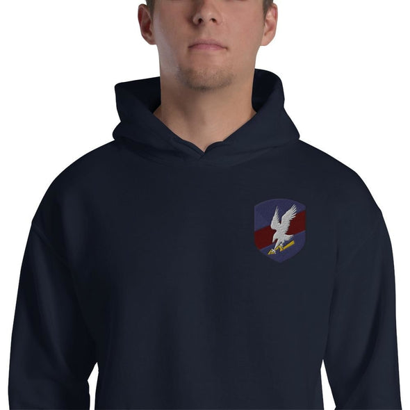 Polish JW GROM Embroidered Unisex Hoodie - Navy / S