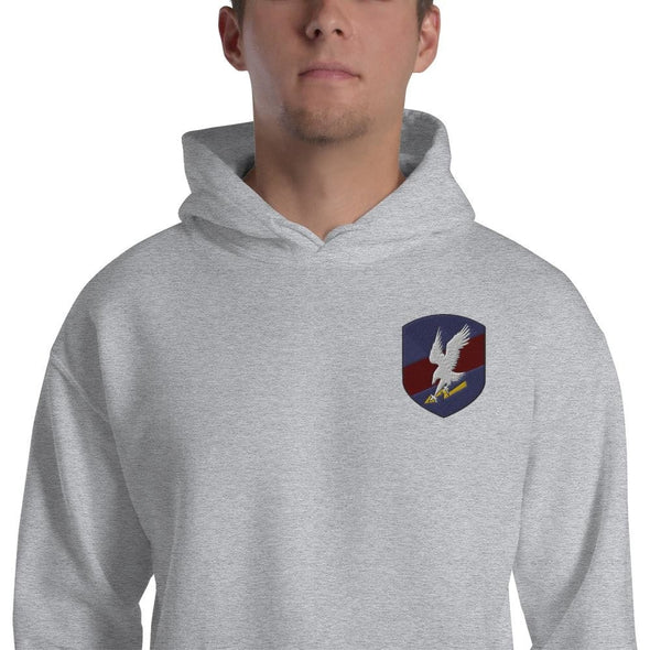 Polish JW GROM Embroidered Unisex Hoodie - Sport Grey / S