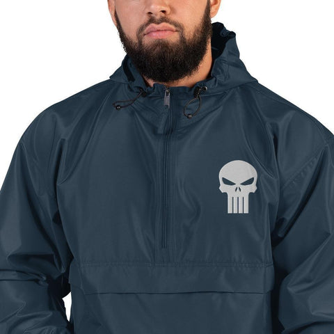 opszillastore,Punisher Embroidered Champion Packable Jacket,