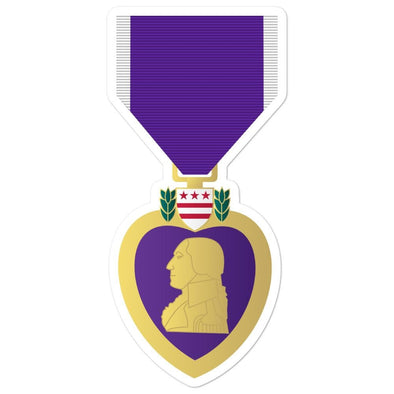Purple Heart Medal Bubble-free stickers - 5.5x5.5