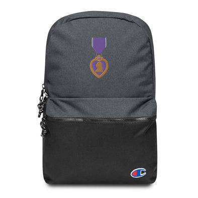 Purple Heart Medal Embroidered Champion Backpack