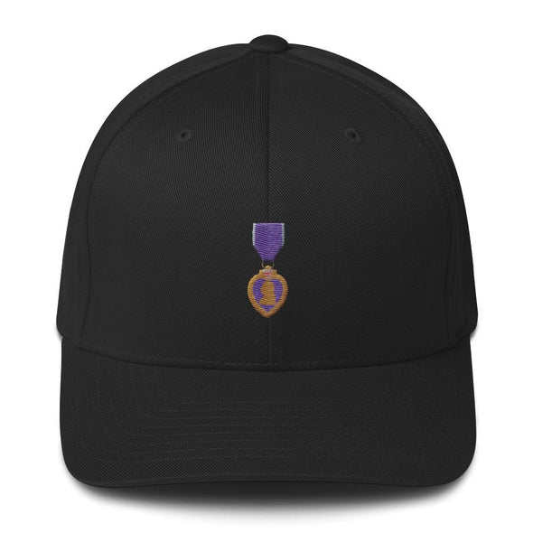 opszillastore,Purple Heart Medal Embroidered Structured Twill Cap,
