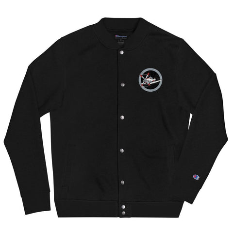 opszillastore,Red Plane Roundel Embroidered Champion Bomber Jacket,