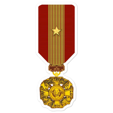 Republic of Vietnam Gallantry Cross Medal With Gold Star Bubble-free stickers - 5.5x5.5