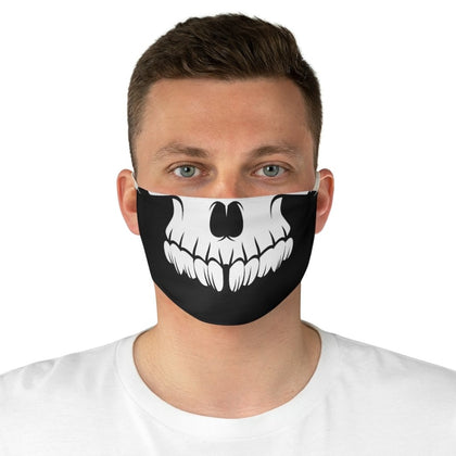 Skull Teeth Fabric Face Mask - One size - Accessories