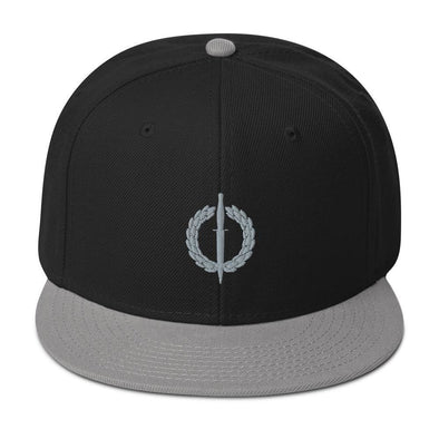 South African Special Forces (RECCE) Embroidered Snapback Hat - Gray / Black / Black