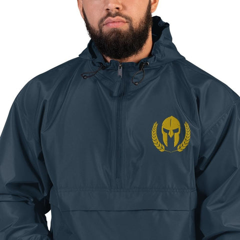 opszillastore,Spartan Helmet and Wreath Embroidered Champion Packable Jacket,