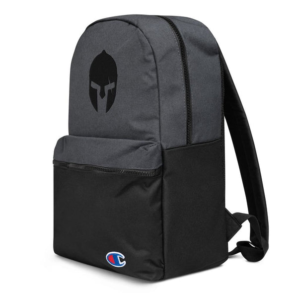 Spartan Helmet Embroidered Champion Backpack