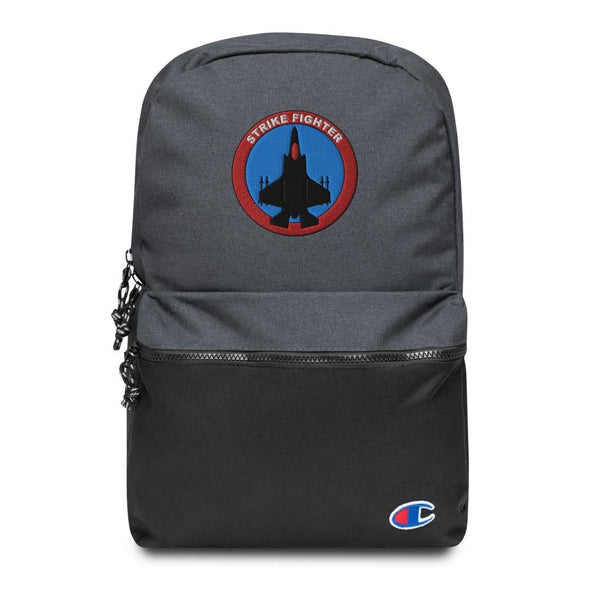 Strike Fighter Embroidered Champion Backpack