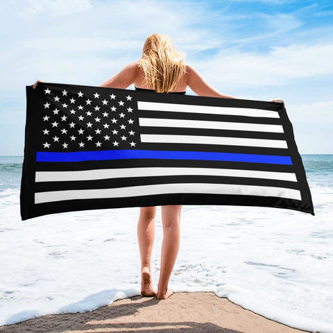 opszillastore,Thin Blue Line American Flag Towel,